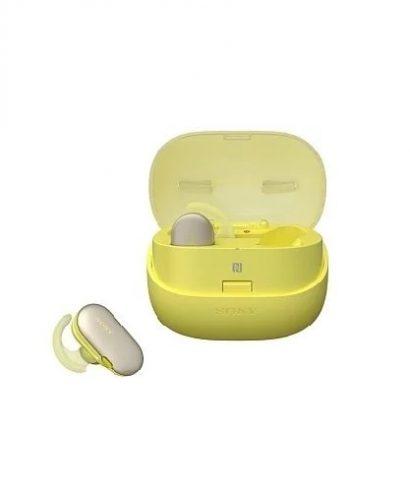Sony - WF-SP900-W Sports Wireless Bluetooth Headphones Yellow Limited Edition