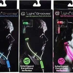 Light Grooves Lighting earphone blue