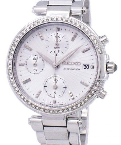 Seiko SNDV41P1 Chronograph Quartz Diamond Accent Women's Watch