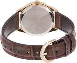 Casio Quartz LTP-V005GL-9B Analog Leather Women's Watch