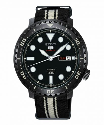 Seiko 5 Sports SRPC67K1 Bottle Cap 100 mm Nylon Strap Men's Watch