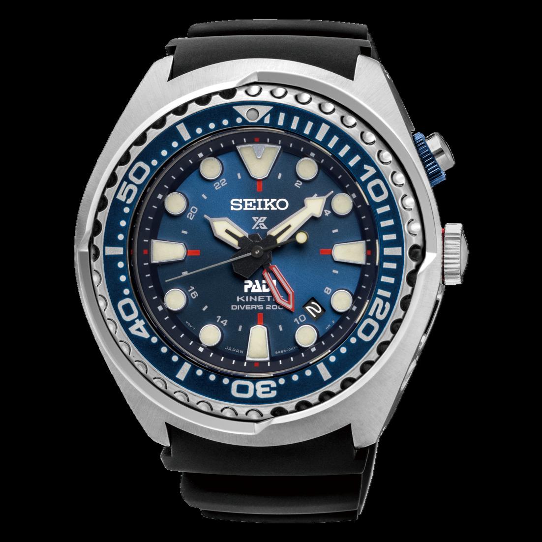 """Seiko Prospex Kinetic GMT Diver's """"PADI"""" Edition SUN065P1 Men's Watch"""