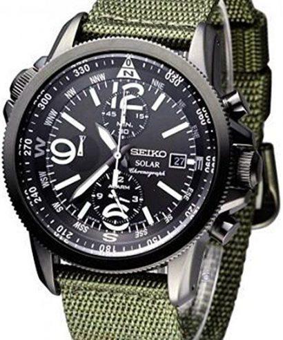 Seiko SSC137P1 Solar Chronograph Alarm Men's Watch