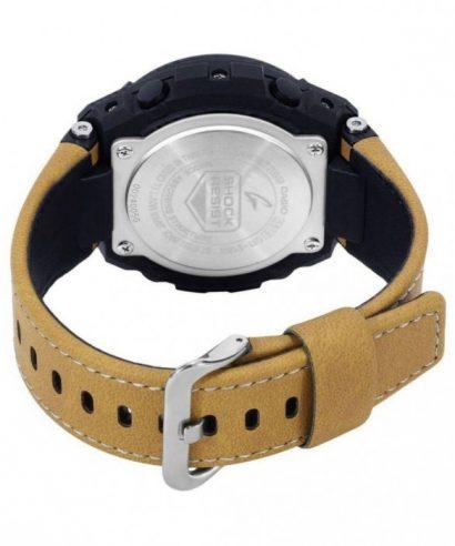 Casio G-Shock Steel Black Dial Leather Strap GST-S120L-1B Men's Watch