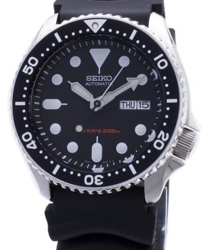 Seiko SKX007K1 Divers Automatic Black Dial Rubber Strap Men's Watch