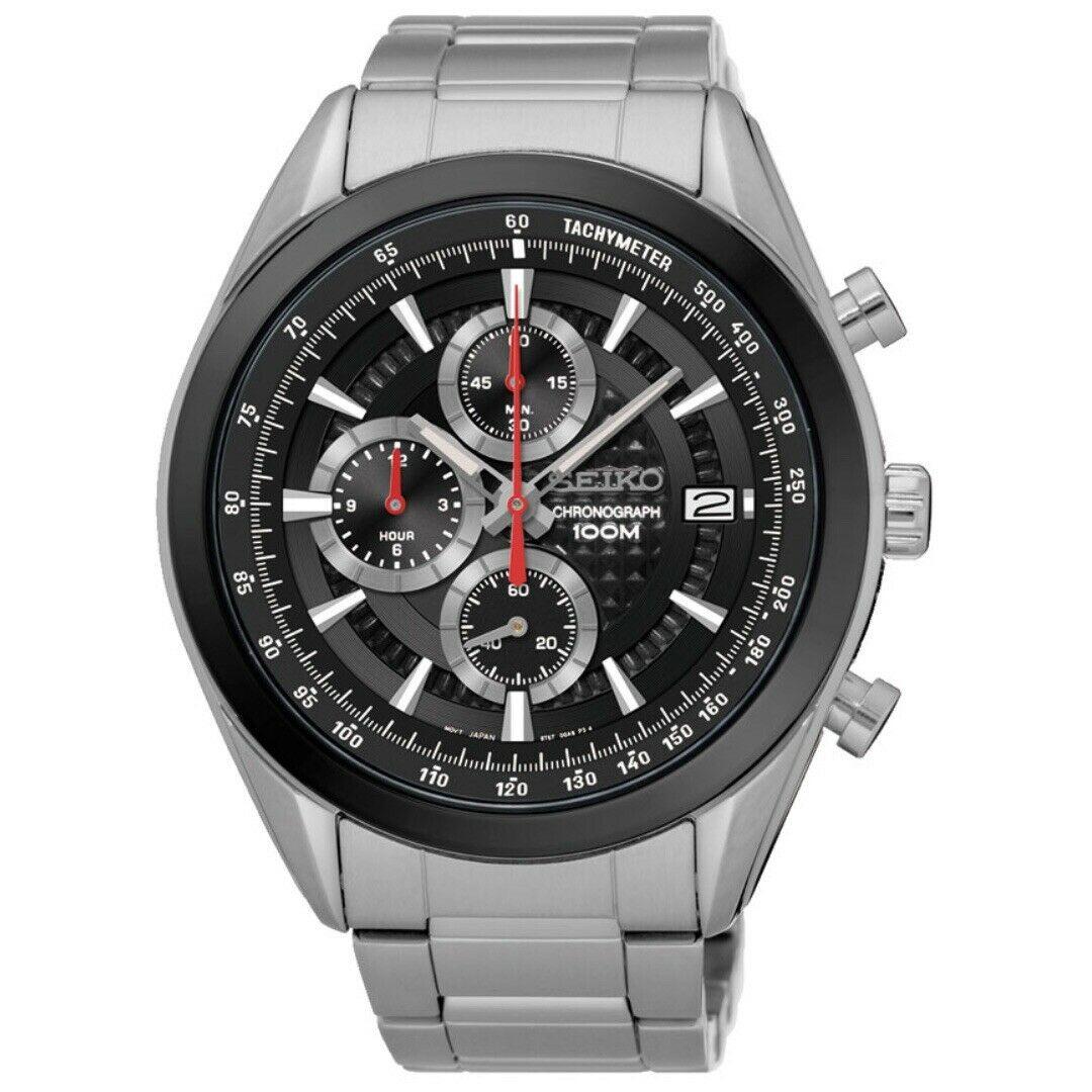 Seiko SSB201P1 Chronograph Quartz Tachymeter Men's Watch
