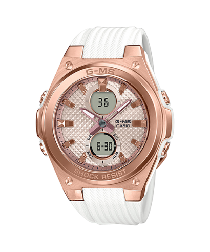 Casio Baby-G MSG-C100G-7A Lineup White Resin Band Women's Brand New Watch