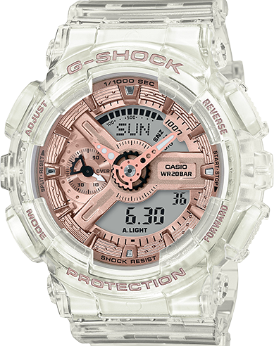 Casio G-Shock GMA-S110SR-7A Transparent Rose Dial Women's Watch
