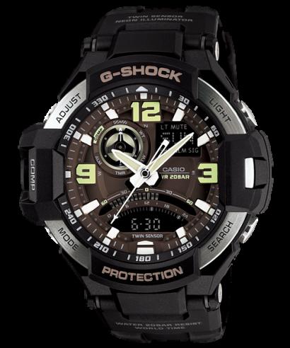 Casio G-Shock GA-1000-1B Gravity Master Twin Sensor Analog Watch