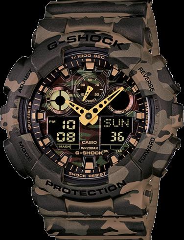 Casio G-Shock Camouflage Quartz Men's GA-100CM-5A Watch