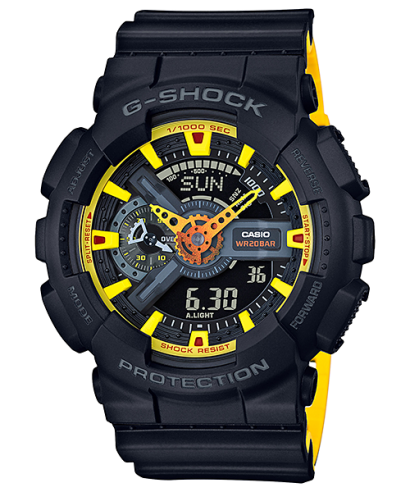 Casio G-Shock Shock Resistant Analog Digital GA-110BY-1A Watch