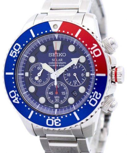 Seiko SSC019P1 Solar Chronograph Divers Men's Watch
