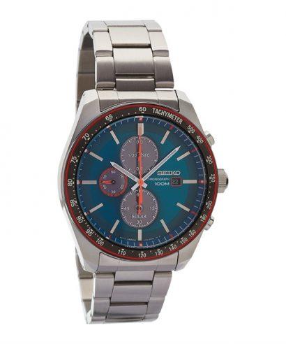 Seiko SSC717P1 Hardlex Crystal Solar Blue Dial Analog Men's Watch