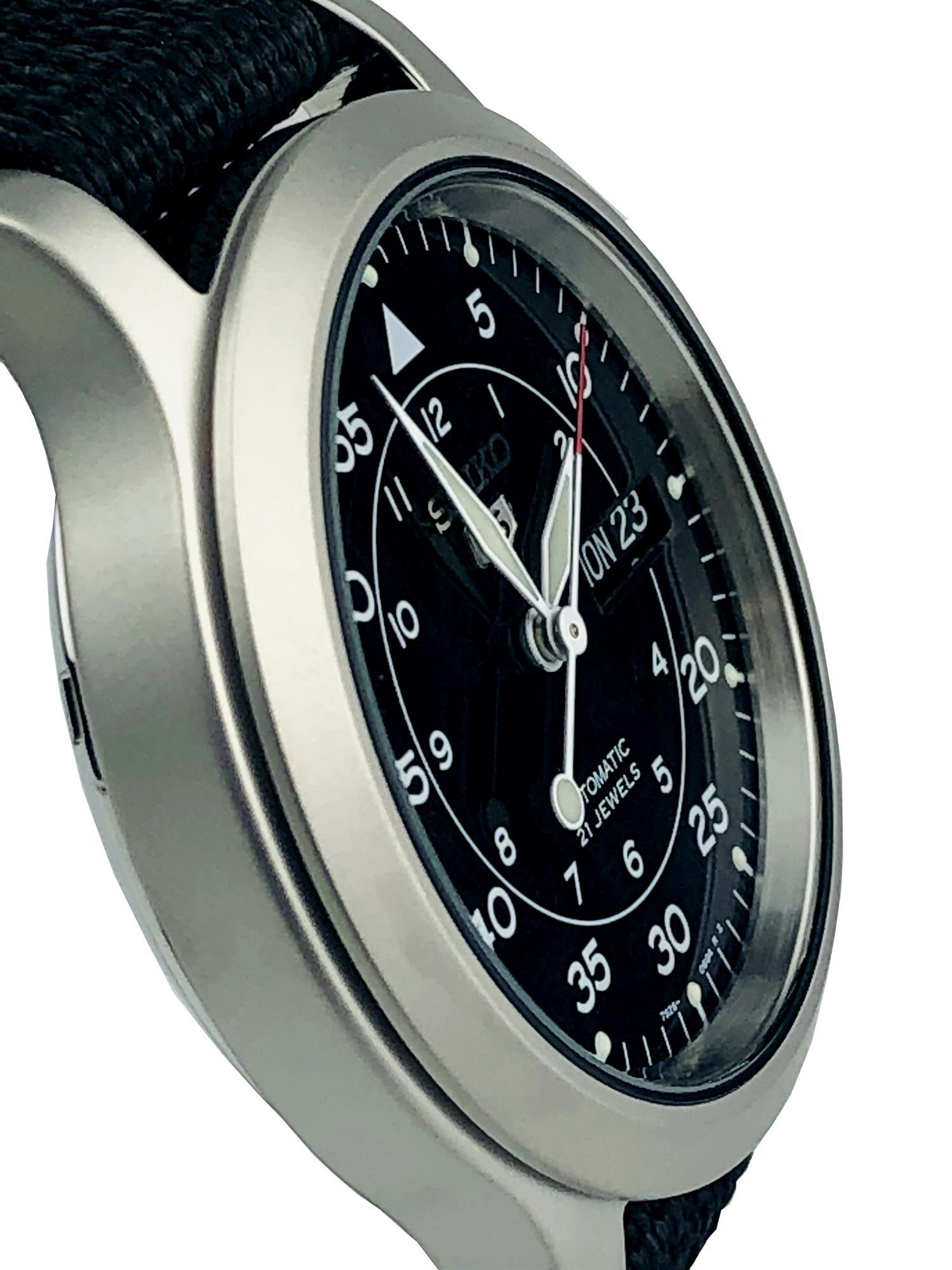 Seiko 5 SNK809K2 Military Black Automatic Men's Watch