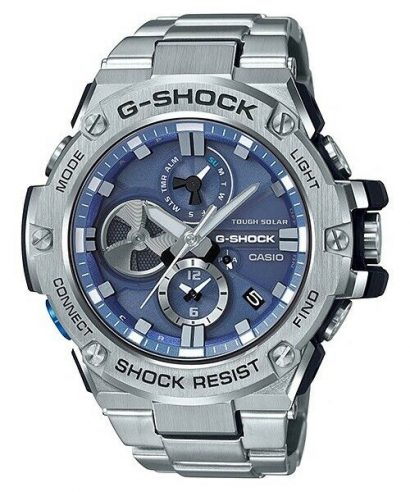 Casio G-Shock GST-B100D-2A G-Steel Bluetooth iOS Android Men's Watch