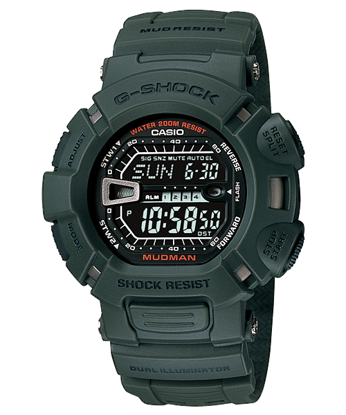 Casio G-Shock Green Mudman Digital Sports Men's G-9000-3V Watch