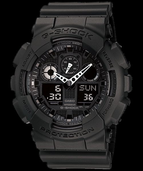 Casio G-Shock Analog-Digital Black Dial Men's Watch GA-100-1A1Watch
