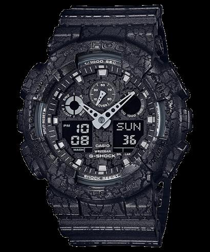 Casio G-Shock Cracked Pattern Men's GA-100CG-1A Watch