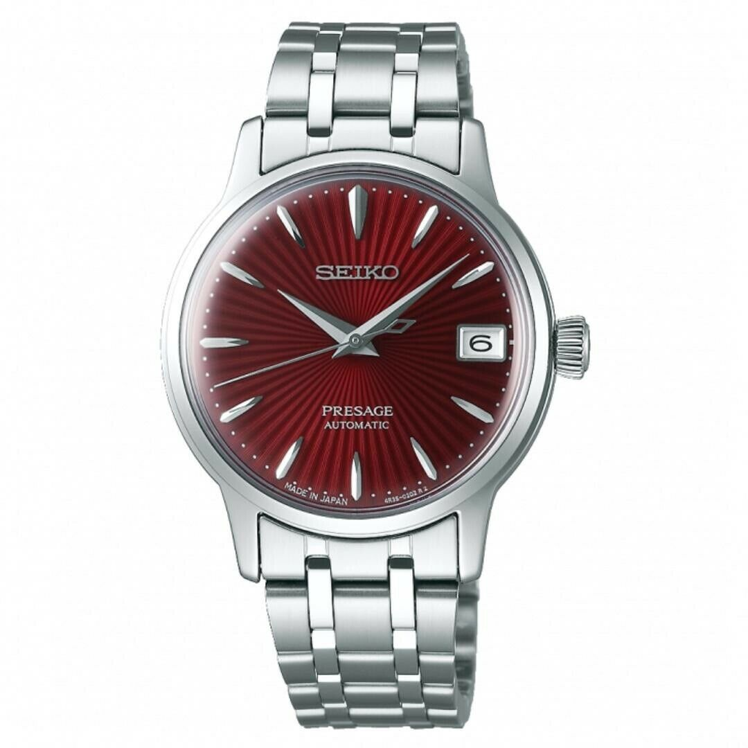 Seiko SRP853J1 Presage Automatic Ladies Cocktail Red Dial Men's Watch
